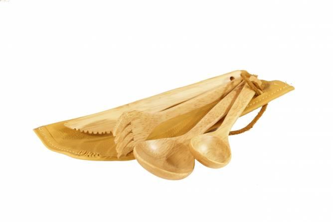 Bilde av Trebestikk i skinnpose